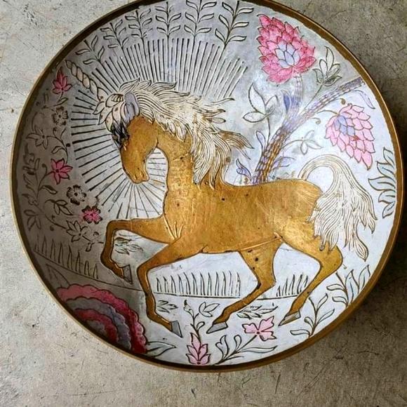 Brass Unicorn Bowl